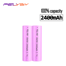 FELYBY 2pcs Original 18650 li-ion rechargeable battery 3.7V 2400mAh 18650 batteries battery 18650 Rechargeable Battery стоимость
