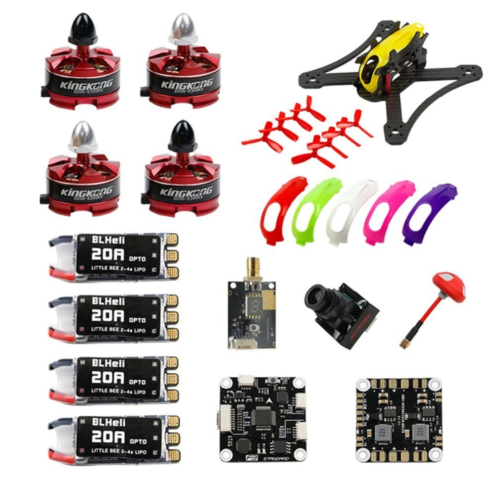 RAMMUS 180 FPV PNP DIY Kit RAMMUS 700TVL Camera 2205 Frame Kit F3 PLUS FC2300KV Motor 20A ESC 5.8G VTX Drone F19958 diy fpv mini drone qav210 zmr210 race quadcopter full carbon frame kit naze32 emax 2204ii kv2300 motor bl12a esc run with 4s