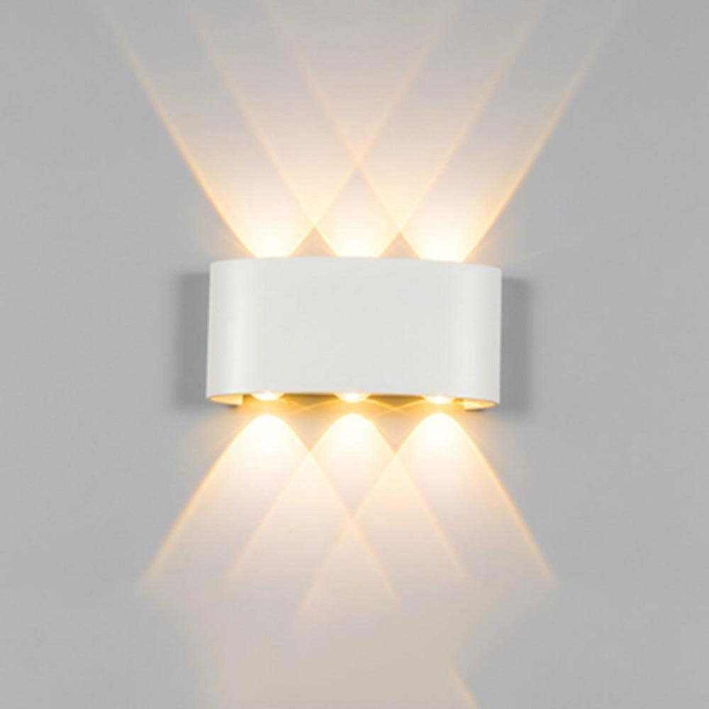 Industrial Pipe Lamp LED Garden Lighting Waterproof Wall Mount Light 110 220v Up Down Light Outdoor Wall Light luminarias