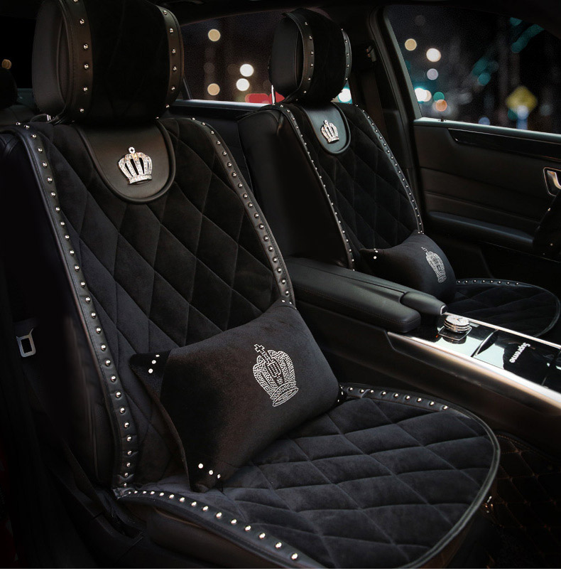 Winter-Plush-Universal-Car-Seat-Cover-Crystal-Crown-Rivets-Auto-Seat-Cushion-Interior-Accessories-Front-Seats-Covers-4