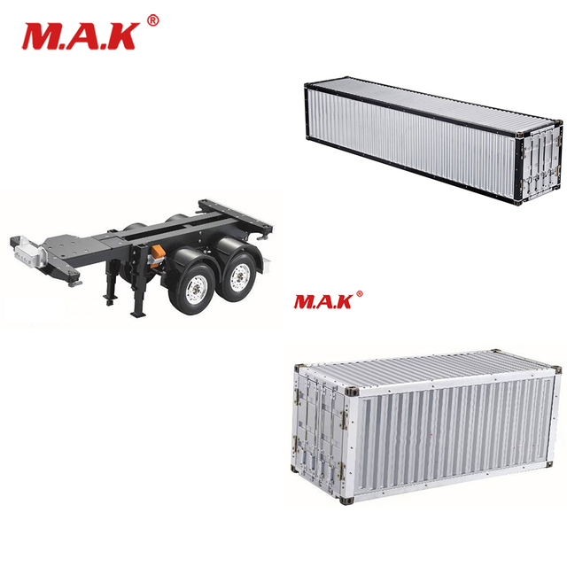 1/14 RC Tractor Truck Car Parts Accessory 20FT 40FT Aluminium Frame Container trailer frame Kit For RC Tamiya Scania R620 Actros