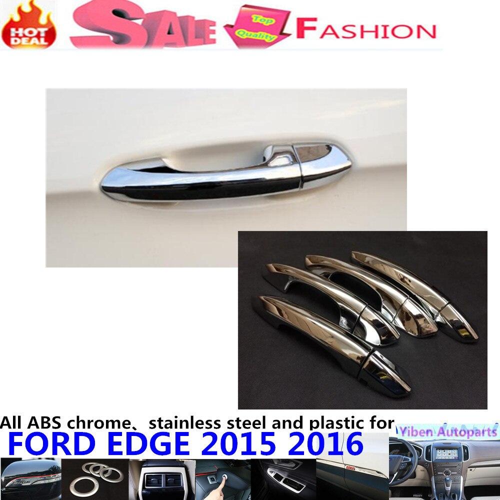 Car body styling detector sticks frame lamp trim abs chrome door handle panel hoods parts 8pcs