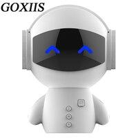 Wireless Bluetooth Loudspeaker Box Cartoon Robot Plug In Card Portable Mini Bass Cannon Bring Charge