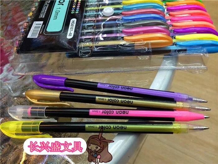 canetas glitter graffiti highlighter conjunto estudantes papelaria brilhante 03