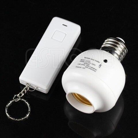 10m e27 parafuso controle remoto sem fio lampada de luz titular cap tomada
