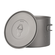 лучшая цена TOAKS 1300ml Cookware Titanium Mug Cup Titanium Pot Camping  Drinkware Outdoor Pot With Cover and Folding Handle