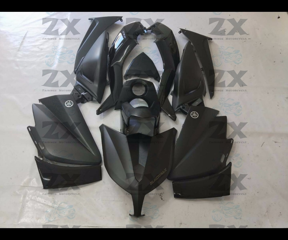 Complete Fairings For Yamaha TMAX 530 12 13 14T-Max ABS Plastic Kit Injection Motorcycle Fairing Flat Blacka Kit tmax530 complete fairings for honda cbr1000rr 2017 2018 abs plastic kit injection motorcycle fairing flat black kit uv sku201 17 18