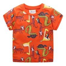 2019 New Brand Summer 2-7 year baby Kids boys Girls cartoon Animal cat Printing Short O-neck Quality Cotton t-shirts Tops shirt