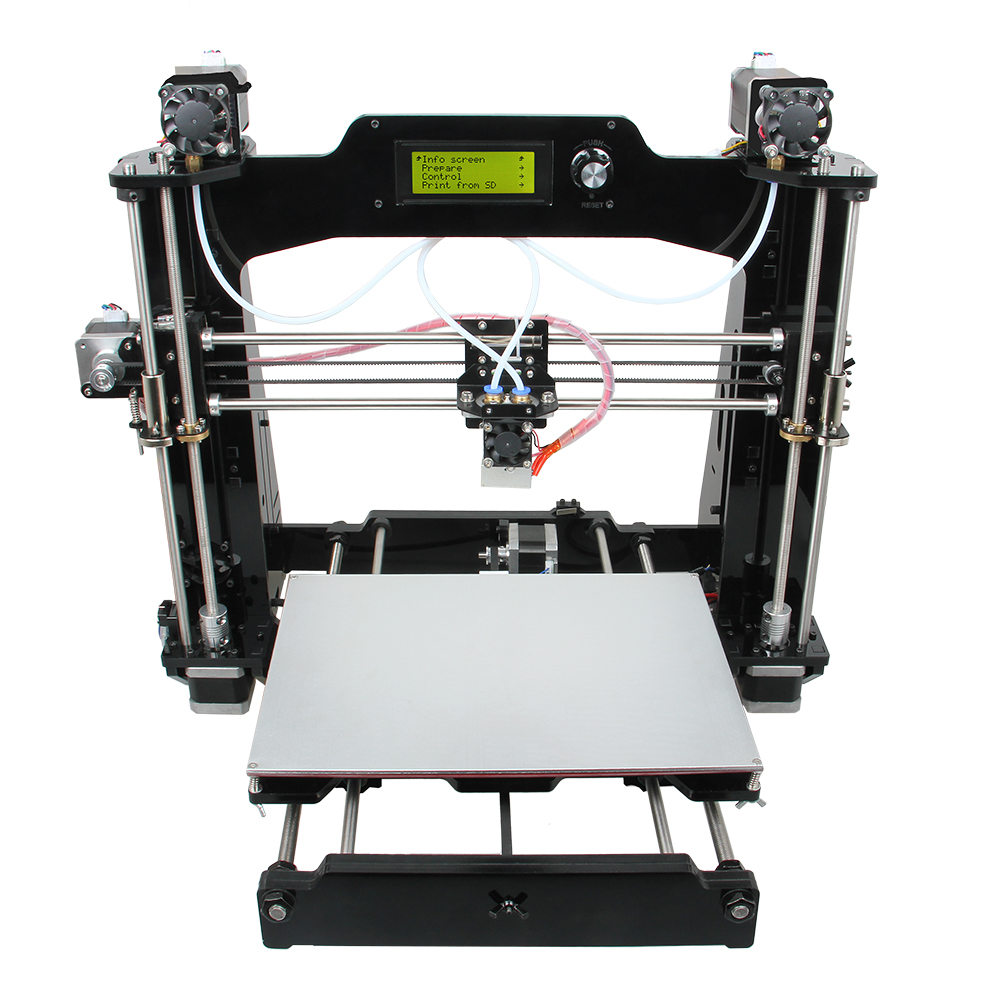 Geeetech Latest Prusa I3 3D printer 6-I3 M201 2-in-1-out version With LCD 2004 printing volume DIY kit Wholesale Price