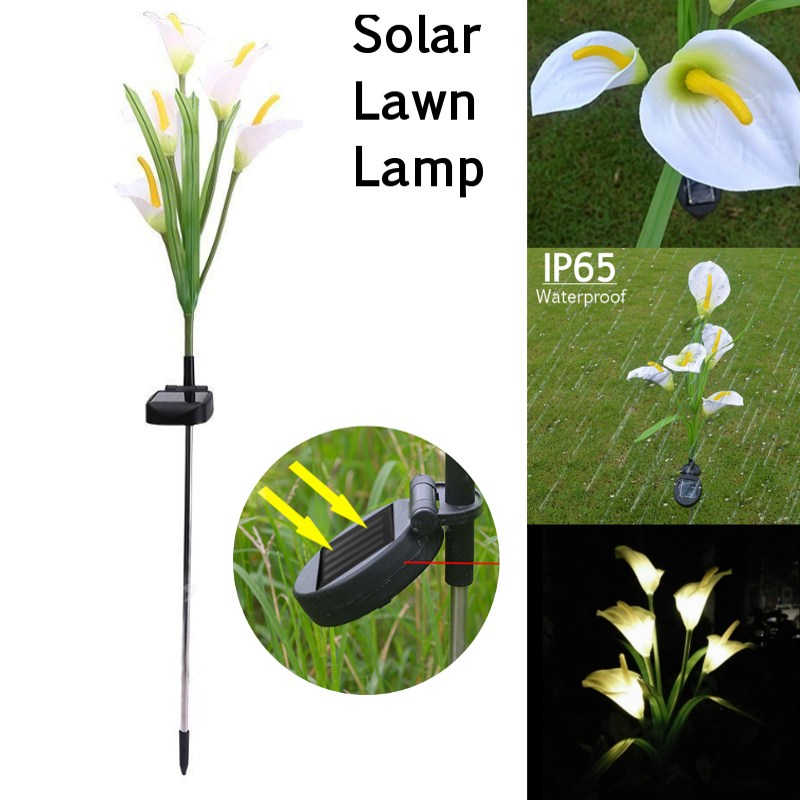 Mising 5 LED Waterproof Solar Powered Light Horseshoe Flower Garden Lamp Yard Decor White Underground Llight