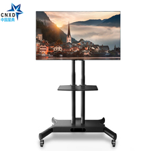 "CNXD Movable Floor TV Carts Filexible TV Stand Mount Mobile TV Bracket Fit for 32""-65"" TV, Max Support 50KG/110lbs Weight(China)"