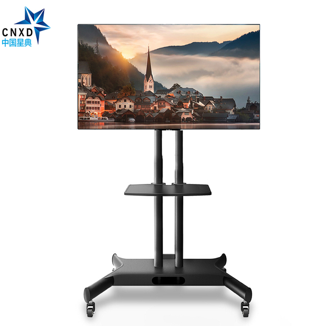 """Mobile Floor TV Cart  for 32-65"""" LCD LED Plasma Flat Screen Panel Trolley Floor Stand with with Audio Shelf and Locking Wheels"""
