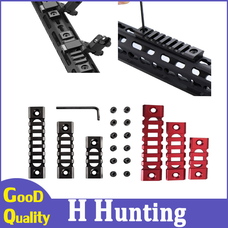 Hunting Accessories Tactical Mount Rail Lightweight Picatinny Rail Section 3/5/7 Slot KeyMod Rail for Keymod Handguard Mount-in Hunting Gun Accessories from Sports & Entertainment