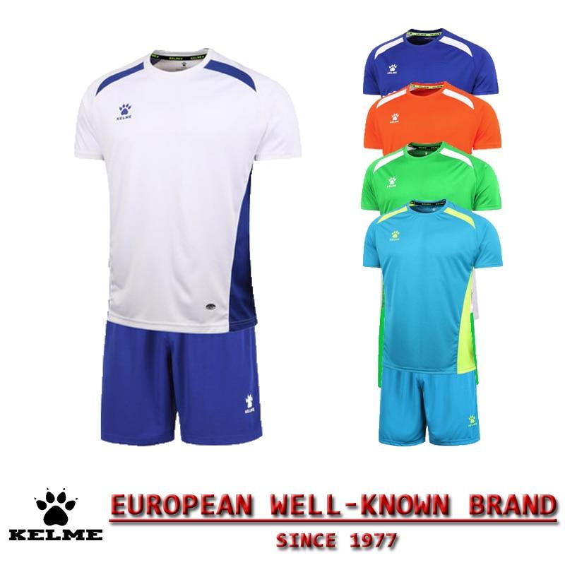 KELME Official Authentic Spain Hombre Soccer Uniforms Sets Team Short  Football Training Suits Customize Soccer Uniforms e471d3891