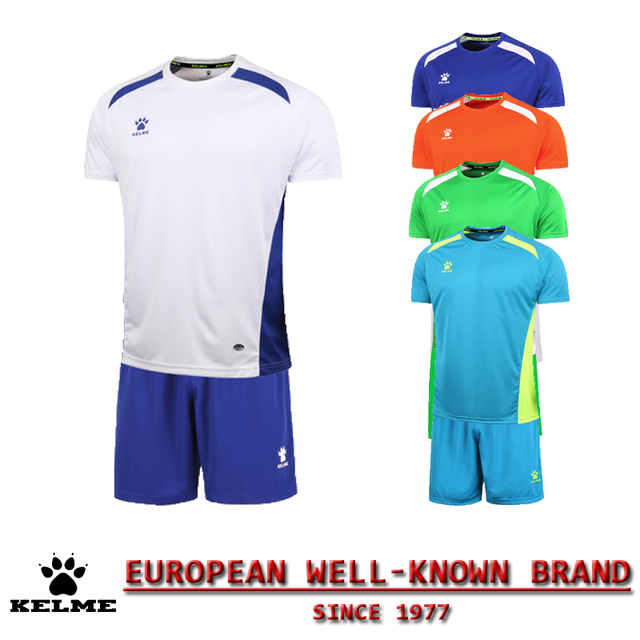KELME Official Authentic Spain Hombre Soccer Uniforms Sets Team Short Football Training Suits Customize Soccer Uniforms Kit 08