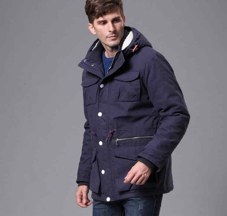 トップ品質男性冬コットンジャケットコート男性パーカー冷たい雪暖かいカジュアルオーバーコートロシアフード付きコート生き抜く2017新しい