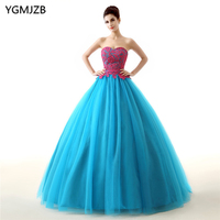 Blue Quinceanera Dresses 2018 Ball Gown 15 Year Dresses Appliques Lace Tulle Sweet 16 Dress Vestidos De 15 Anos