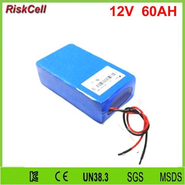 1 шт./лот литий ионная батарея высокой емкости 60Ah 12v для устройств