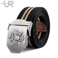 Unisex Russian National Emblem Canvas Tactical Belt High Quality Military Belts For Mens Women Luxury Patriot