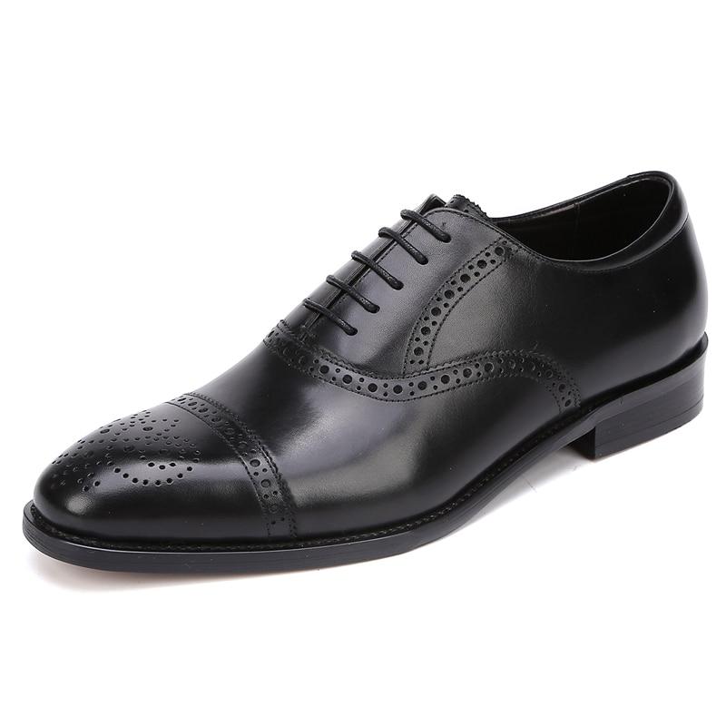 Redondo Sapatos Moda Brogue Oxfords Esculpida vermelho Britânico Da Vinho Pé Estilo Couro Formal Preto Homens Dos Vestido Festa Homem De Do Casamento Genuíno Dedo Js32 Handmade xnqPwICq1