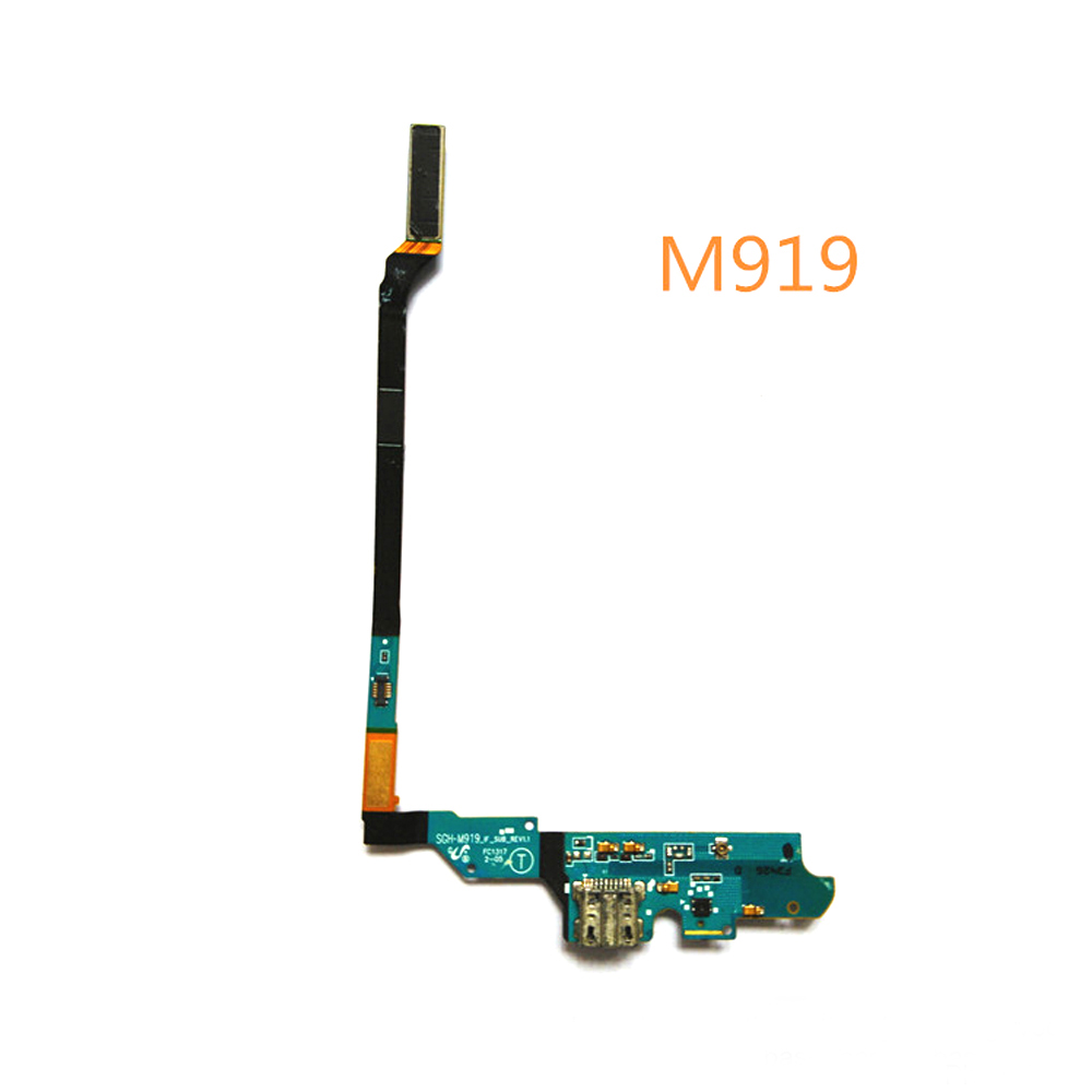 USB Charger Charging Port Dock Connector Flex Cable For Samsung GALAXY S4 I9500 M919 I337 I9505 4G I545 With Mic Microphone