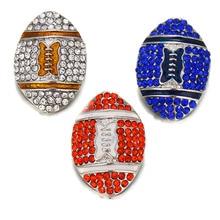 10pcs/lot Sports Football Team Metal Snap Buttons Jewelry Fi