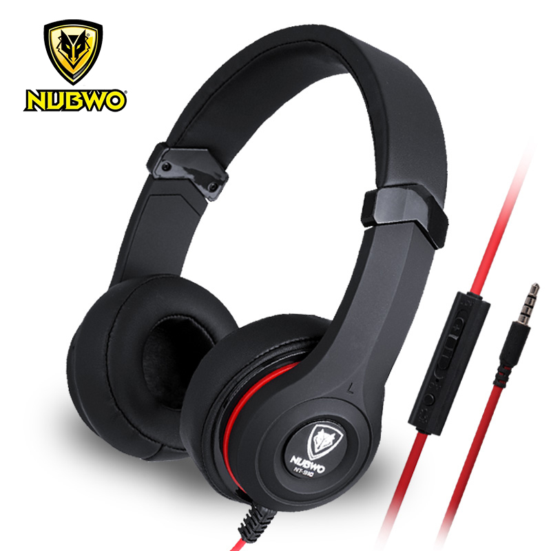 Original NUBWO NT-910 Gaming Headphones Super Deep Bass Stereo Surround Headband Gaming Headsets With Microphone For PC Gamer picun c3 rose gold headphones with microphone for girls ps4 gaming headsets for apple iphone se galaxy s8 s7 a5 sony leeco asus