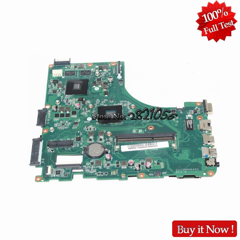 NOKOTION Mainboard DAZQMBMB6B0 for Acer aspire E5-411 E5-411G Laptop motherboard NBMRX11002 NB.MRX11.002 DDR3 TestedNOKOTION Mainboard DAZQMBMB6B0 for Acer aspire E5-411 E5-411G Laptop motherboard NBMRX11002 NB.MRX11.002 DDR3 Tested
