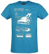 Back To The Future Delorean Time Machine T-Shirt mottled blue  New T Shirts Funny Tops Tee Unisex