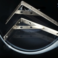 2pcs 160X300mm 304 Stainless Steel Shelf Holder Bracket Triangular Commodity Shelf Wall Shelf Shelf Supporting Frame