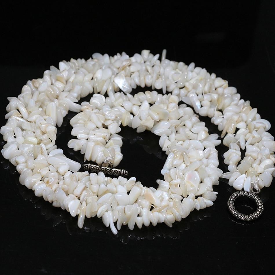 fac25fead6f1 Moda blanco Shell grava irregular hermoso perlas sueltas DIY regalo  especial maknig B521