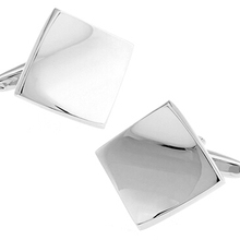Free Shipping Engravable Cufflinks Silver Color Copper Fashion Design Best Gift For Men Cuff Links Wholesale&retail