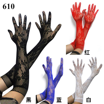 Sexy transparent lace elastic gloves bride Long-sleeve mesh liturgy sexy 610 - sale item Gloves & Mittens