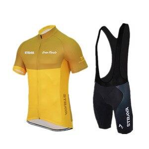 Image 2 - 2019 zestaw koszulek rowerowych STRAVA letnia odzież rowerowa górska Pro rowerowa koszulka kolarska strój sportowy Maillot Ropa Ciclismo