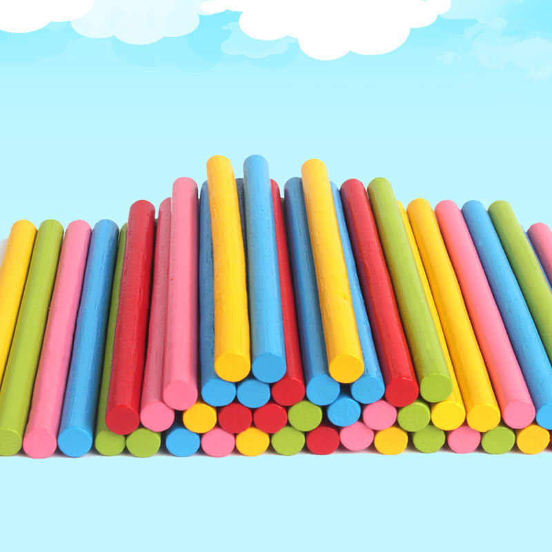 100 Adet Renkli Bambu Sayma Cubuklari Matematik Ogretim
