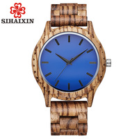 SIHAIXIN Wooden Watch Men erkek kol saati Stylish Wood Man Clock Quarzt 2019 New Arrival Relogio Accept Logo Drop Shipping