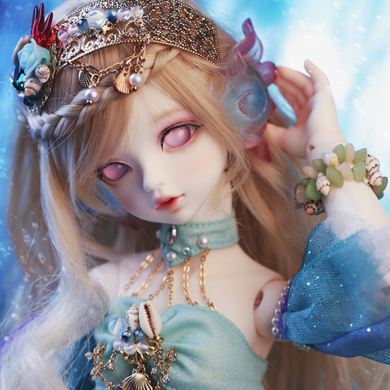 Top Quality 1/4 BJD Doll SD Fashion Lovely Rico Fish Mermaid Joint Reborn Model Doll With Eyes For Baby Girl Gift Present Top Quality 1/4 BJD Doll SD Fashion Lovely Rico Fish Mermaid Joint Reborn Model Doll With Eyes For Baby Girl Gift Present
