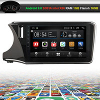 10.2 inch Car Video Audio Player for Honda CITY with GPS Navigation Bluetooth Wifi (NO DVD)
