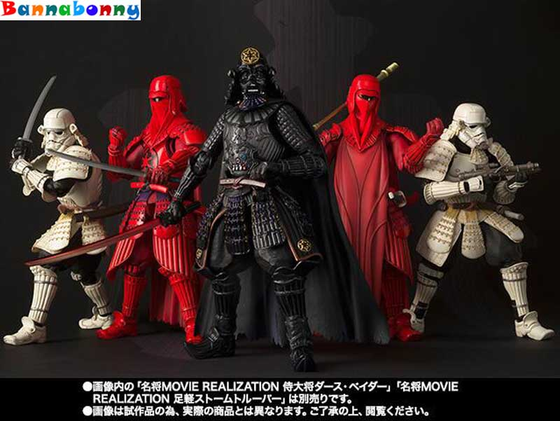 The Force Awakens Samurai Taisho Darth Vader Death Star Armor Ashigaru Stormtrooper Boba Fett Toy Action Figure Model play arts star wars the force awakens boba fett figure action figures gift toy collectibles model doll 204