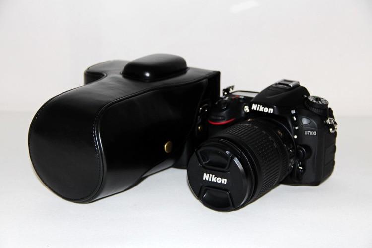 9e8112ba33 Vintage PU Leather Camera Case Borsa Per Nikon D7000 D7100 Borsa  Fotografica D7200 Caffè Nero Marrone in Vintage PU Leather Camera Case Borsa  Per Nikon ...