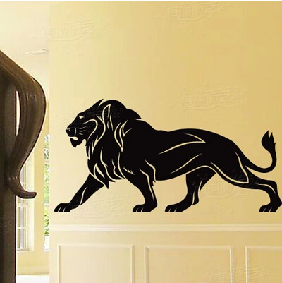 Personalized wall stickers KTV bar ballroom dormitory sports assembly menswear store is decorated in cool domineering male lion ...