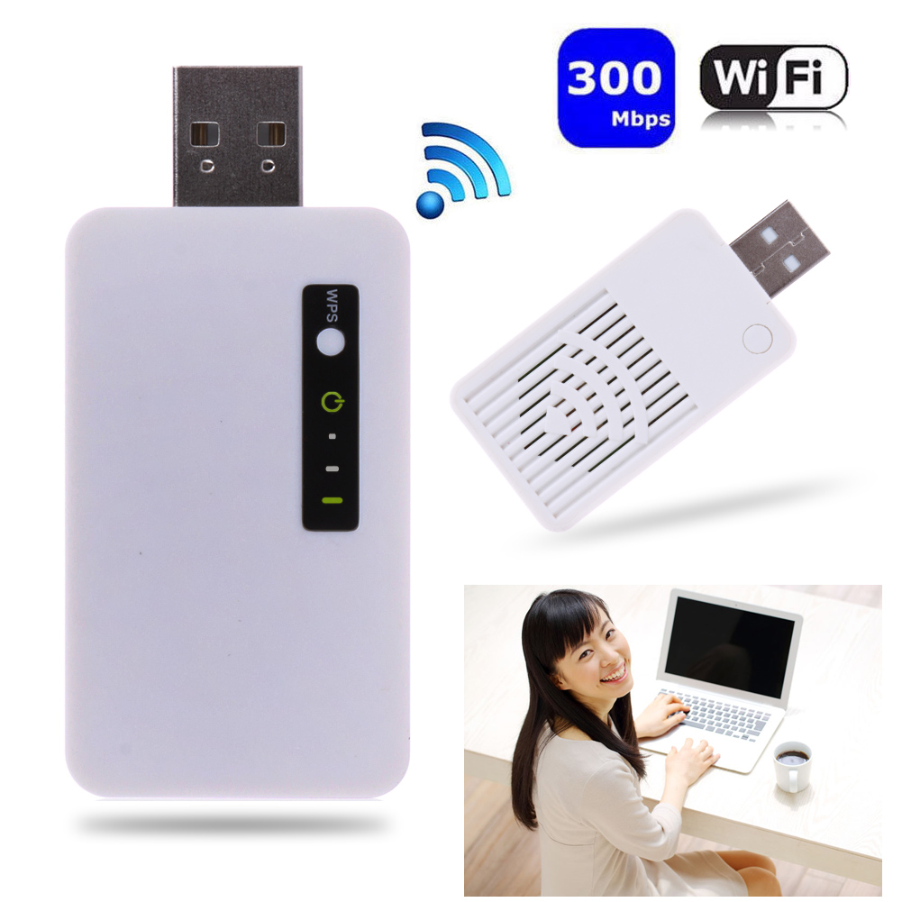 Mini USB Wireless Wifi Repeater 300Mbps IEEE802.11b 2.4 GHz Portable Wi Fi Signal Range Extender Amplifier Booster