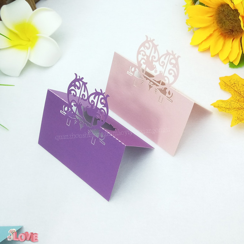 Us 9 58 43 Off 100pcs Laser Cutting Wedding Invitation Letter Greeting Card Love Heart Wine Glass Cards Birthday Party Seat Card 6zz45 In Cards