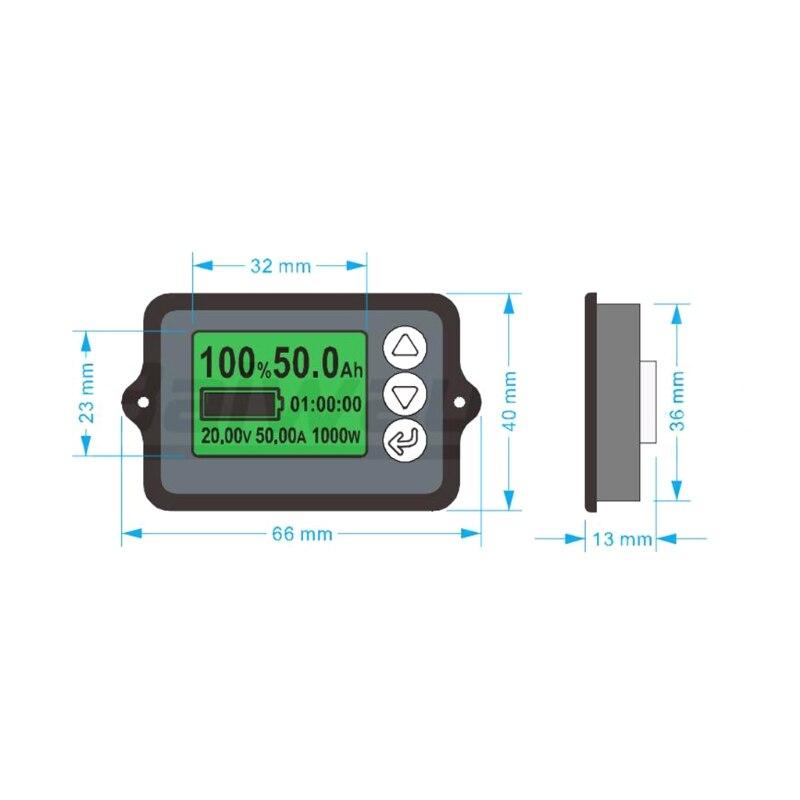 Testeur de batterie de précision 80 V 350A TK15 pour compteur de Coulomb LiFePO coulomètre LCD Z1026