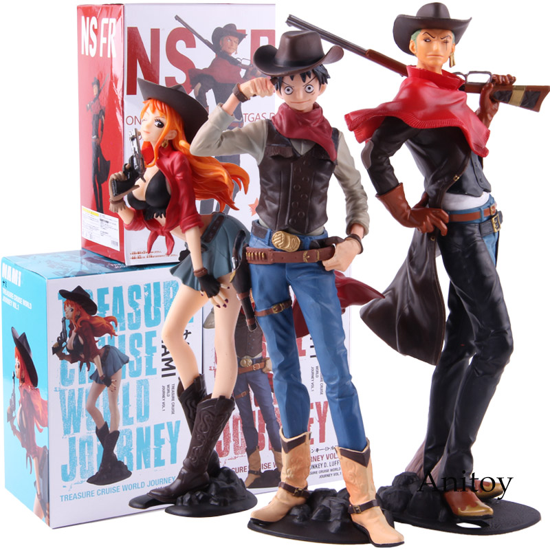 One Piece Action Figure Treasure Cruise World Journey Vol 1 Monkey D Luffy Nami And Roronoa Zoro Anitoy