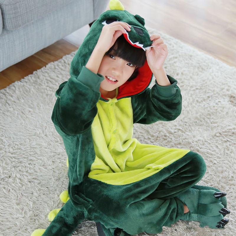 купить Long Sleeve Sleepwear Sets Kids Girls Pyjamas Children's Pajamas Flannel Animal Dinosaur Cartoon Pajamas for Kids Boy Sleepwear по цене 1691.78 рублей