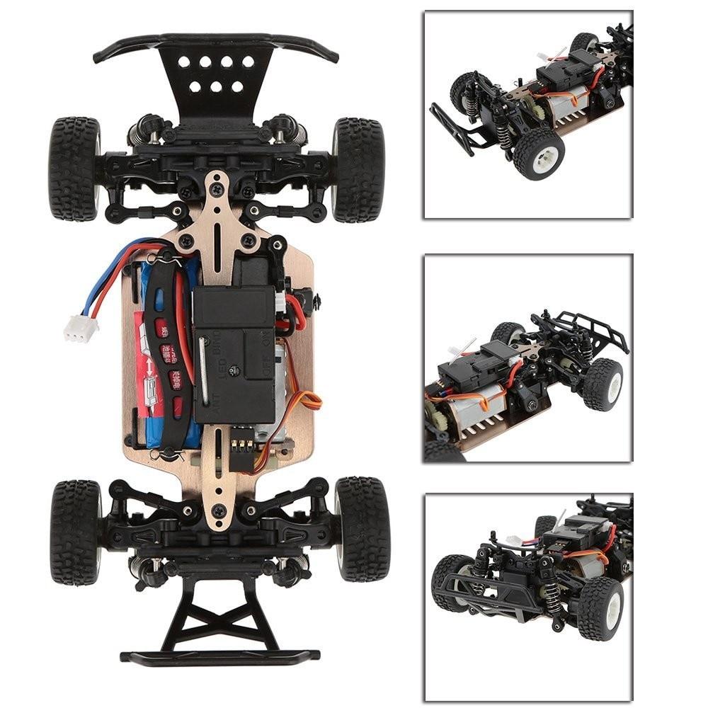 Mais novo A232 1/24 2.4g Escovado 4WD Curso De Curta Duração Elétrica RTR RC Carro Off road De Buggy RC Carro de Drift brinquedos para as crianças vs A979 L202 - 6