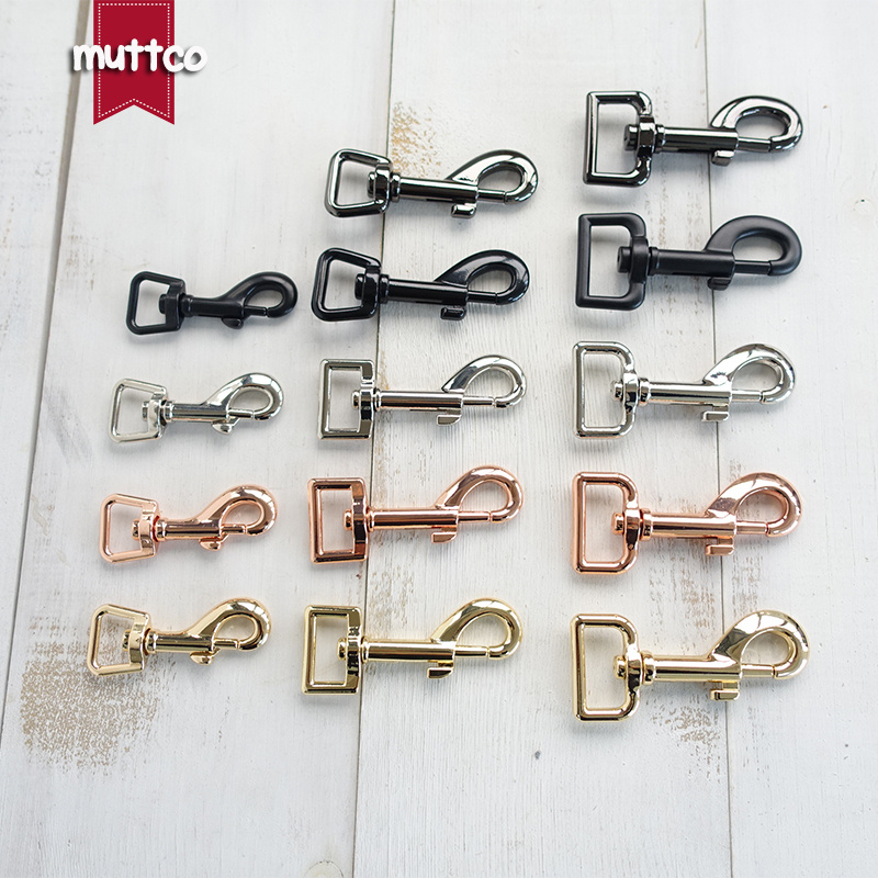 Swivel Clips Snap Hook Gold and Silver 1/'/' Heavy duty 74mm for dog leash 25mm