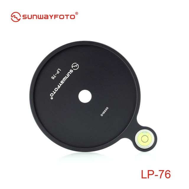 Sunwayfoto LP-76 Add-on Offset Bubble Level Plate  76mm diameter for Tripod  Headball