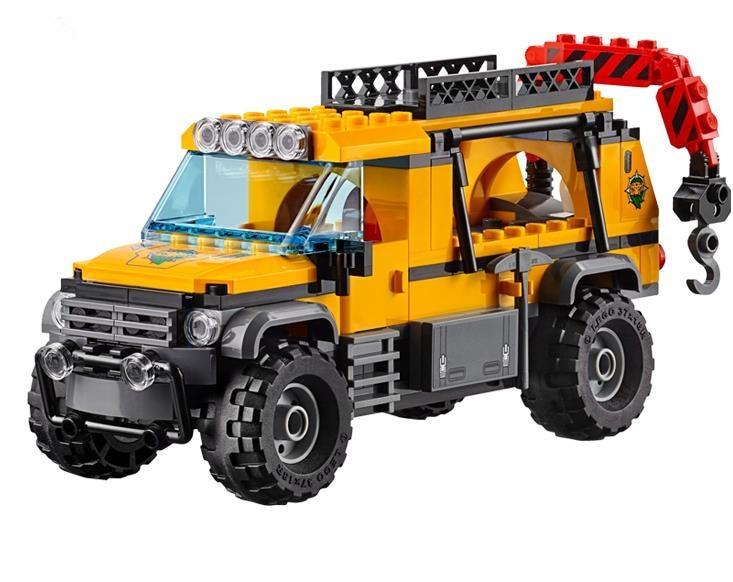 60161 02061 870pcs Jungle Exploration Site รูปของเล่นอาคารใช้งานร่วมกับ Lego blocks อิฐเมืองสำหรับเด็ก-ใน บล็อก จาก ของเล่นและงานอดิเรก บน   3